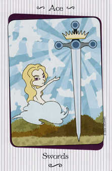 Ace of Wind Tarot Card - Vanessa Tarot Deck