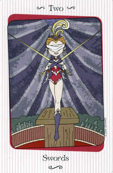 Two of Bats Tarot Card - Vanessa Tarot Deck