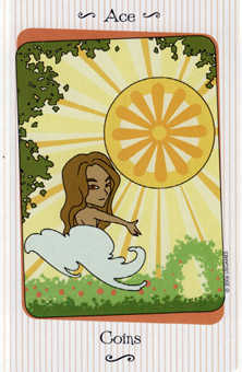 Ace of Discs Tarot Card - Vanessa Tarot Deck