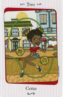 Two of Coins Tarot Card - Vanessa Tarot Deck