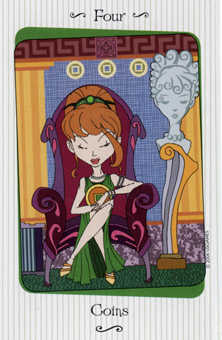 Four of Coins Tarot Card - Vanessa Tarot Deck