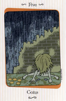 Five of Pumpkins Tarot Card - Vanessa Tarot Deck