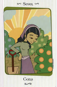 Seven of Pentacles Tarot Card - Vanessa Tarot Deck