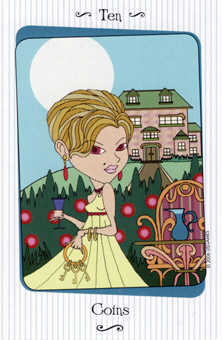 Ten of Pumpkins Tarot Card - Vanessa Tarot Deck