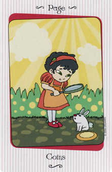 Page of Pumpkins Tarot Card - Vanessa Tarot Deck