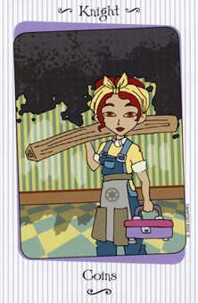 Knight of Coins Tarot Card - Vanessa Tarot Deck