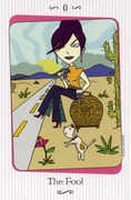 The Fool Tarot card in Vanessa deck