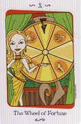 Wheel of Fortune Tarot card in Vanessa deck