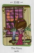 The Moon Tarot card in Vanessa Tarot deck