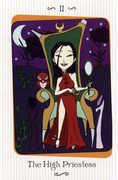 The High Priestess Tarot card in Vanessa deck