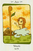 Ace of Wands Tarot card in Vanessa deck