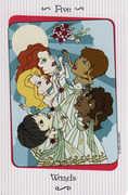 Five of Wands Tarot card in Vanessa deck