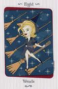 Eight of Wands Tarot card in Vanessa deck