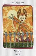 Nine of Wands Tarot card in Vanessa Tarot deck