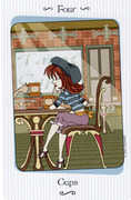 Four of Cups Tarot card in Vanessa deck