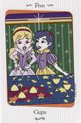 Five of Cups Tarot card in Vanessa deck