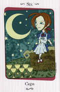 Six of Cups Tarot card in Vanessa deck