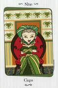 Nine of Cups Tarot card in Vanessa deck
