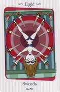 Eight of Swords Tarot card in Vanessa deck