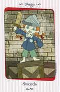 Page of Swords Tarot card in Vanessa Tarot deck