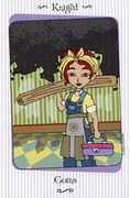 Knight of Coins Tarot card in Vanessa Tarot deck