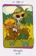 Strength Tarot card in Vanessa Tarot deck