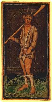 The Foolish Man Tarot Card - Visconti-Sforza Tarot Deck