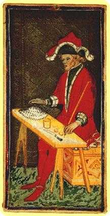The Magician Tarot Card - Visconti-Sforza Tarot Deck