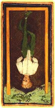 The Hanged Man Tarot Card - Visconti-Sforza Tarot Deck
