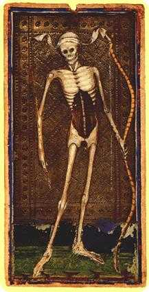 Death Tarot Card - Visconti-Sforza Tarot Deck