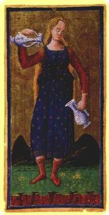 Temperance Tarot Card - Visconti-Sforza Tarot Deck
