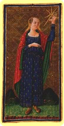 The Star Tarot Card - Visconti-Sforza Tarot Deck