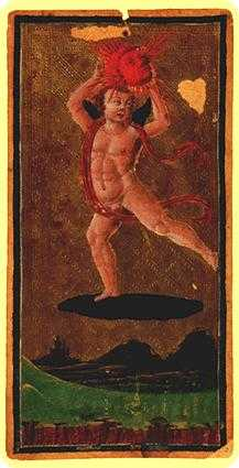 The Sun Tarot Card - Visconti-Sforza Tarot Deck