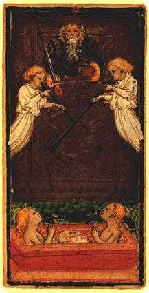 The Judgment Tarot Card - Visconti-Sforza Tarot Deck