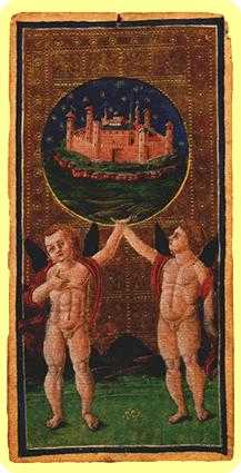 The World Tarot Card - Visconti-Sforza Tarot Deck