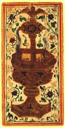 Ace of Cups Tarot Card - Visconti-Sforza Tarot Deck