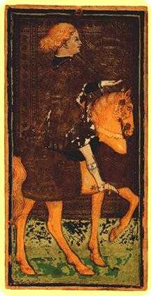 Cavalier of Cups Tarot Card - Visconti-Sforza Tarot Deck