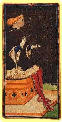 Exemplar of Bowls Tarot Card - Visconti-Sforza Tarot Deck