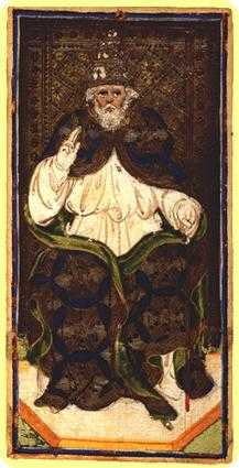 The Hierophant Tarot Card - Visconti-Sforza Tarot Deck