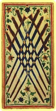 Eight of Wind Tarot Card - Visconti-Sforza Tarot Deck