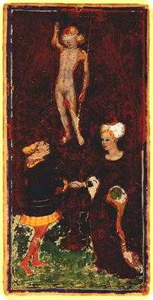 The Lovers Tarot Card - Visconti-Sforza Tarot Deck