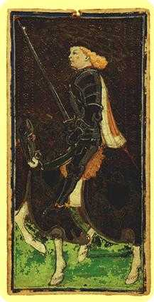 Knight of Spades Tarot Card - Visconti-Sforza Tarot Deck