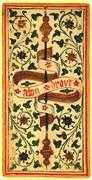 Ace of Wands Tarot card in Visconti-Sforza Tarot deck