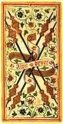 Four of Wands Tarot card in Visconti-Sforza Tarot deck