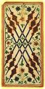 Six of Wands Tarot card in Visconti-Sforza Tarot deck