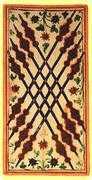 Eight of Wands Tarot card in Visconti-Sforza Tarot deck