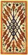 Nine of Wands Tarot card in Visconti-Sforza Tarot deck