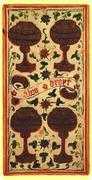 Four of Cups Tarot card in Visconti-Sforza Tarot deck