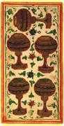 Five of Cups Tarot card in Visconti-Sforza deck