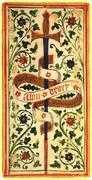 Ace of Swords Tarot card in Visconti-Sforza Tarot deck